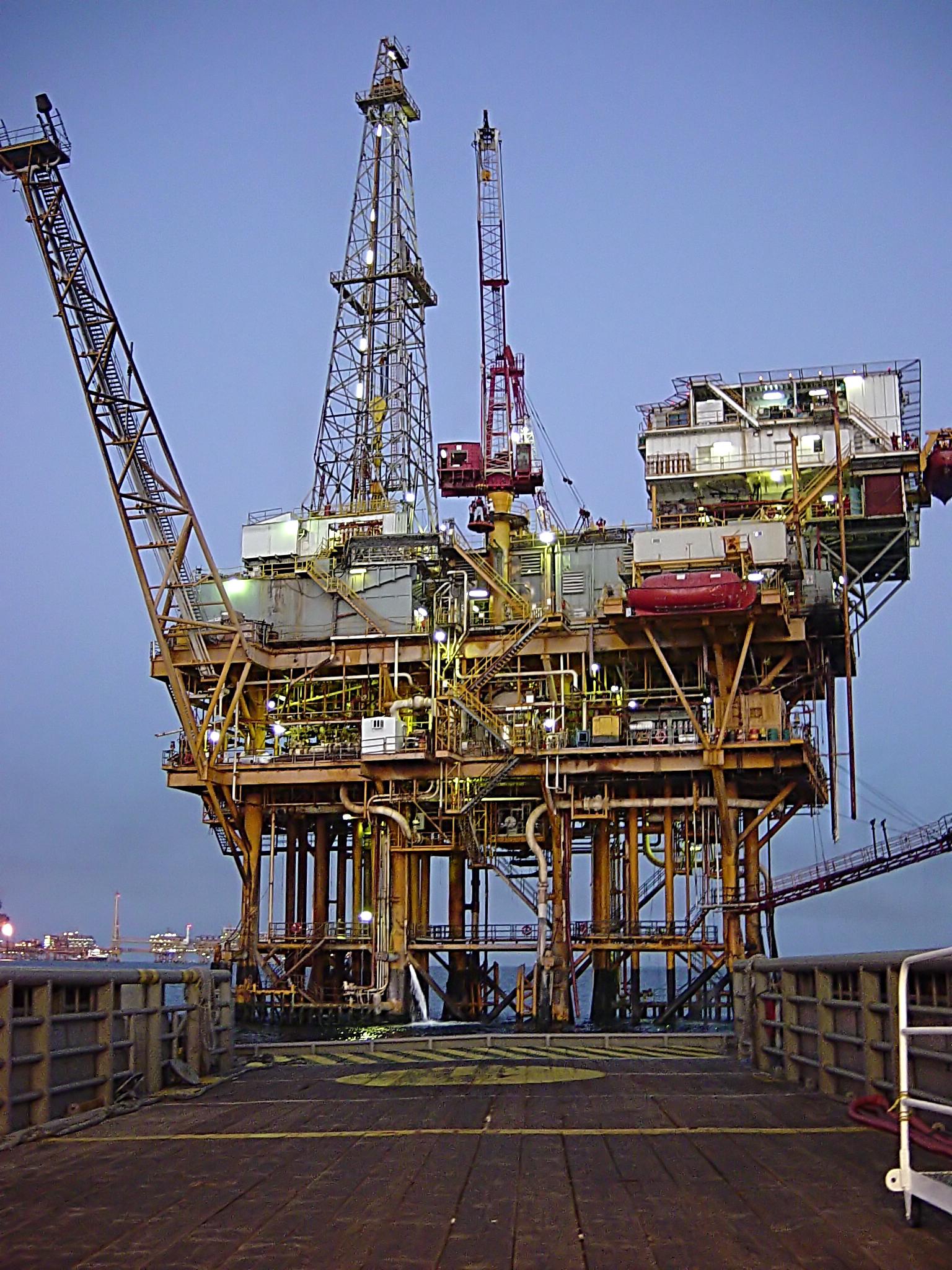 Plataforma petrolera en Ciudad del Carmen