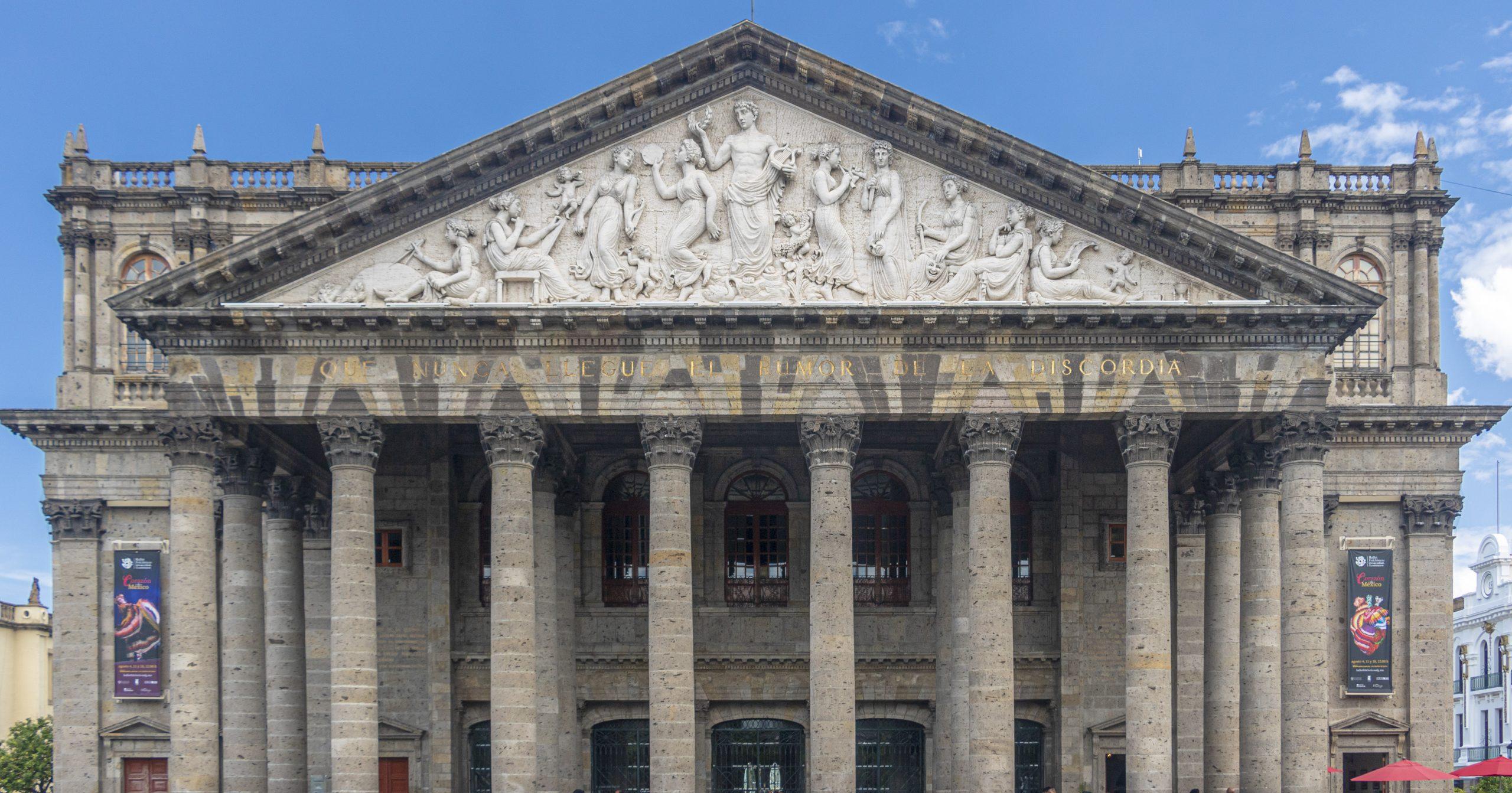 Fachada del Teatro Degollado