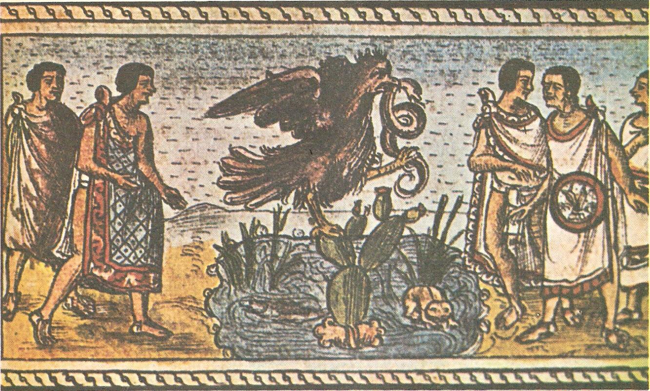 Fundación de Tenochtitlán, extracto del Códice Durán