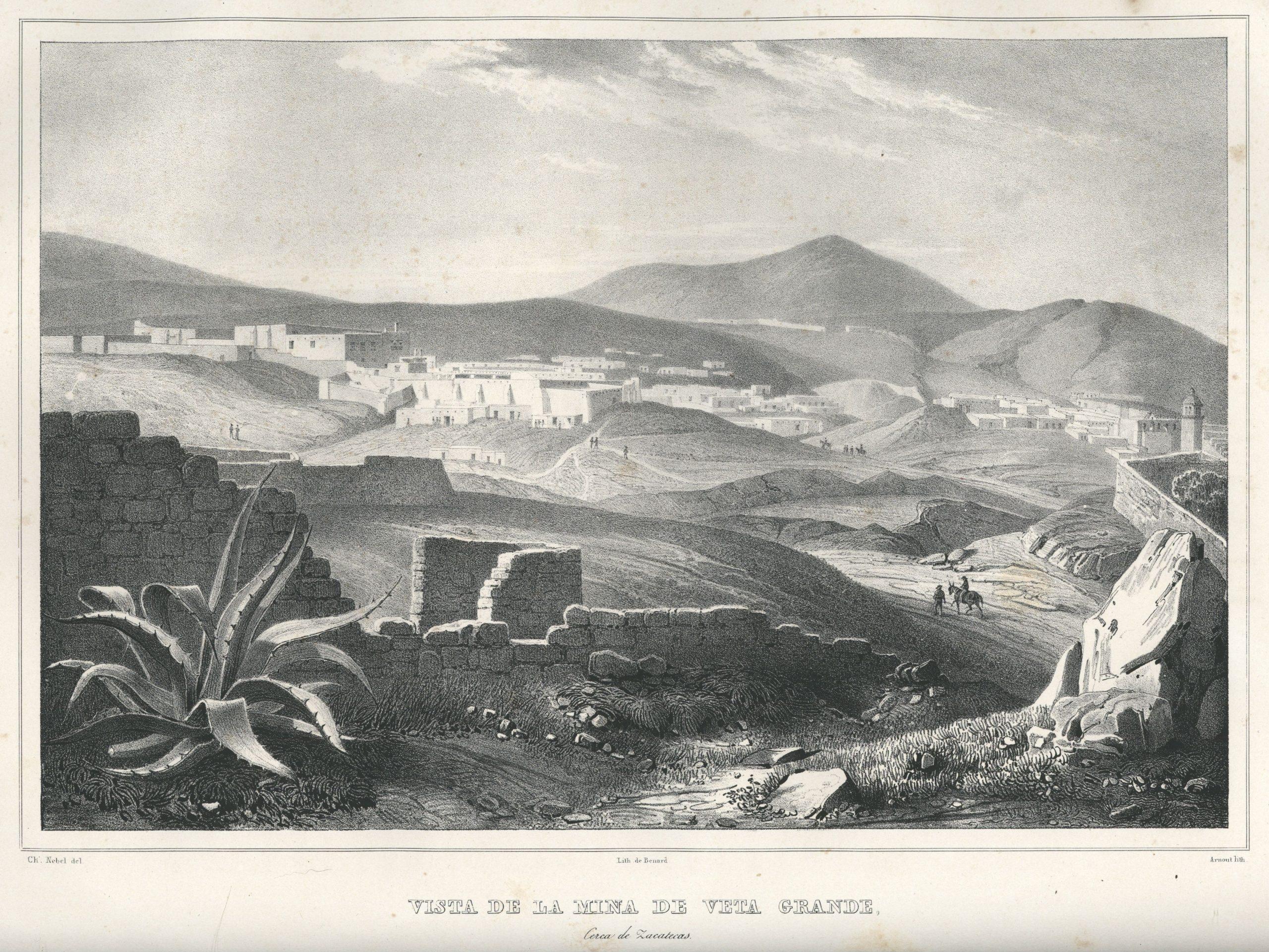 Vista de la mina de Veta Grande, 1836