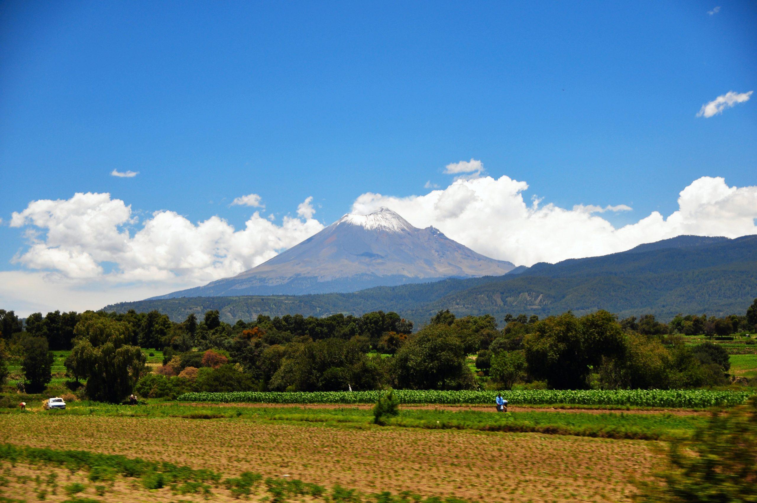 Vista del Popocatépetl desde Morelos