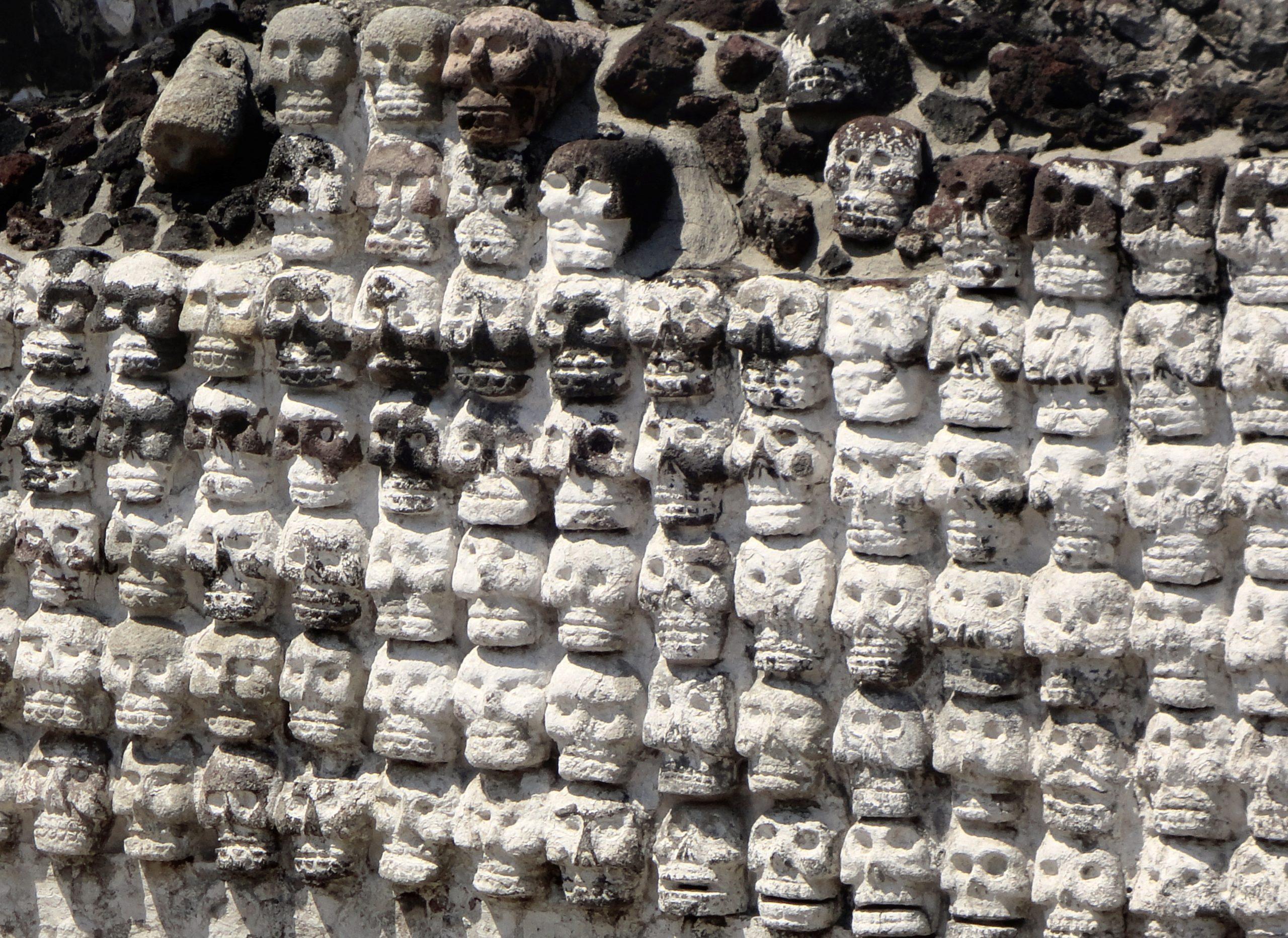 Tzompantli en el Museo del Templo Mayor